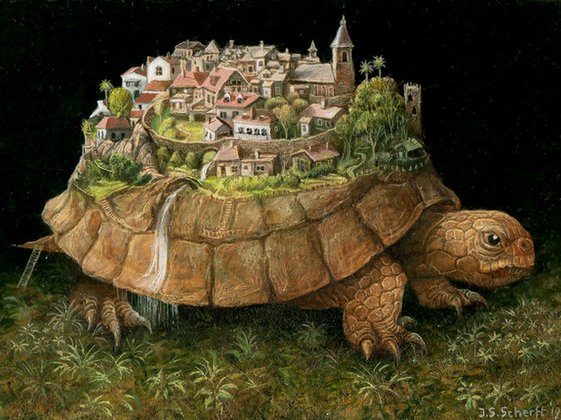 The town on the turtle