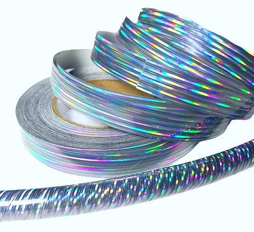 Silver Prism Taped Hoop