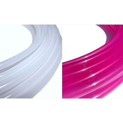 """5/8"""" Sun Shift Pink Gloss Polypro Hoop"""