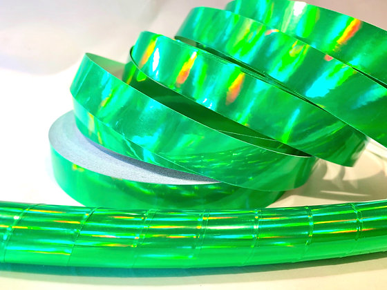 Green Rainbow Sheen Taped Hoop