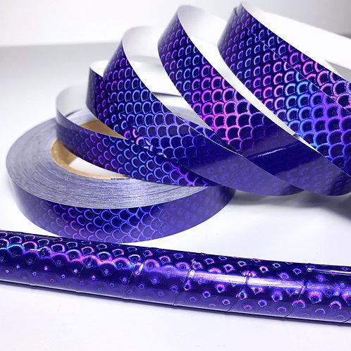 Purple Mermaid Taped Hoop