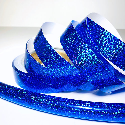Blue Sequin Taped Hoop