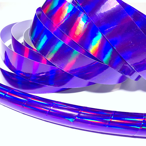 Purple Rainbow Sheen Taped Hoop