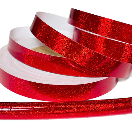 Cherry Hologlitter Taped Hoop