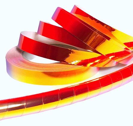 UV Blood Orange Taped Hoop