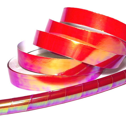 Fire Opalescent Taped Hoop