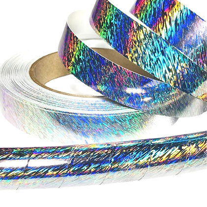 Silver Ripple Taped Hoop