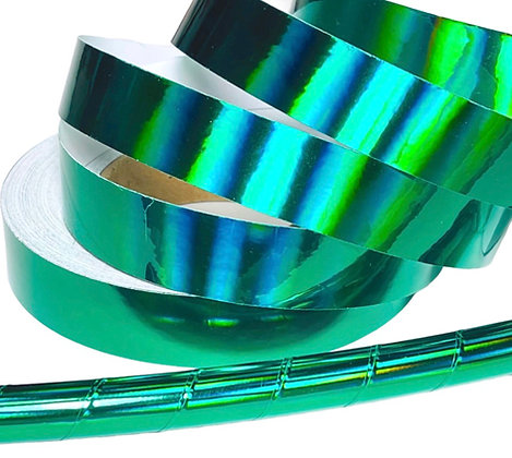 Emerald Rainbow Sheen Taped Hoop