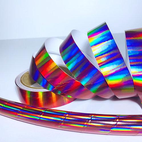 Rose Rainbow Sheen Taped Hoop
