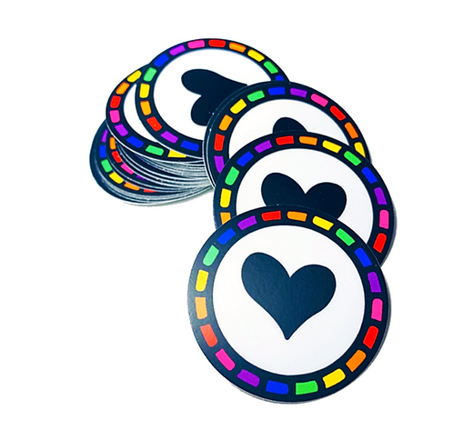 Rainbow Hoop Love Sticker