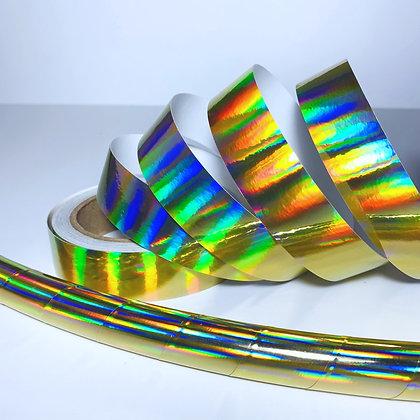 Gold Plasma Rainbow Sheen Taped Hoop