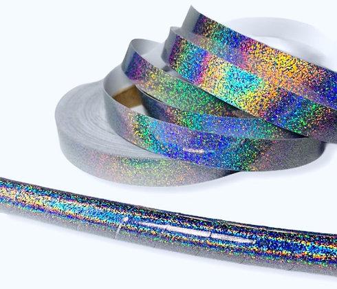Silver Hologlitter Taped Hoop