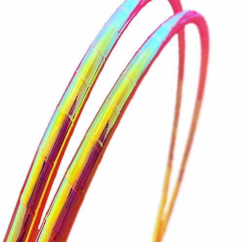 UV Pink Firefly Taped Hoop