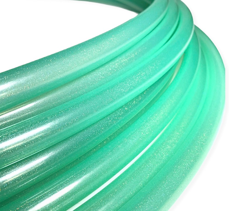UV Mint Stardust Polypro Hoop