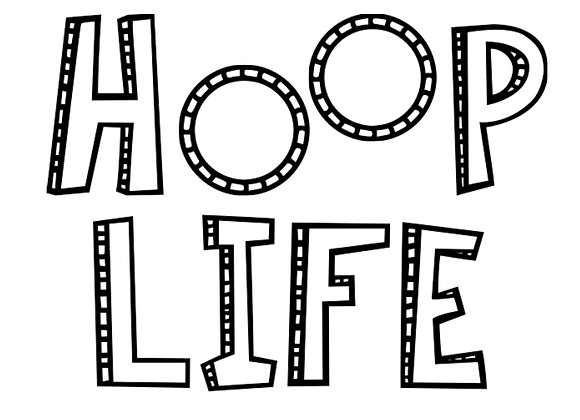 Hoop Life Vinyl Decal