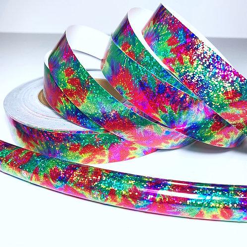 Rainbow Tie Dye Taped Hooo