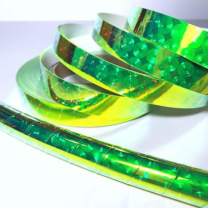 UV Green Firefly Orb Taped Hoop