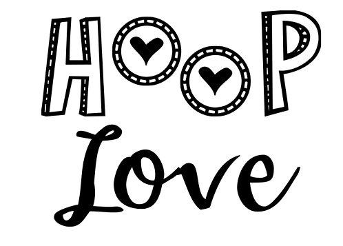 Hoop Love Vinyl Decal