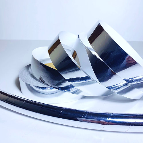 Silver Mirror Taped Hoop