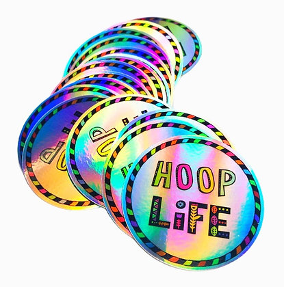Hoop Life Circle Holographic Sticker