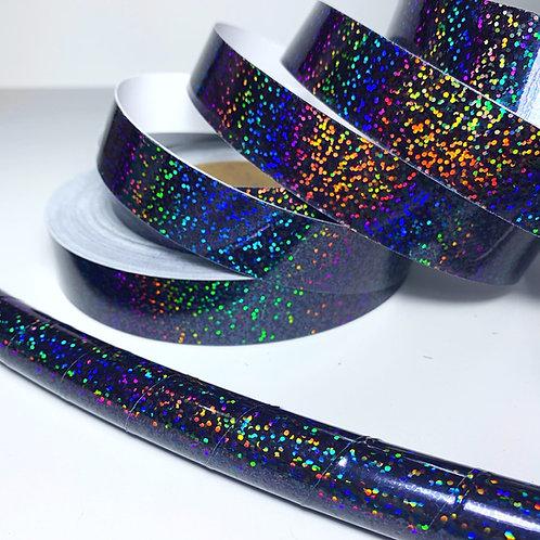 Black Sequin (Space Dust) Taped Hoop