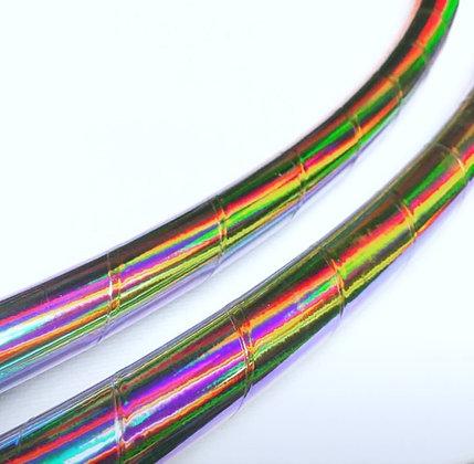 Rainbow Sorbet Taped Hoop