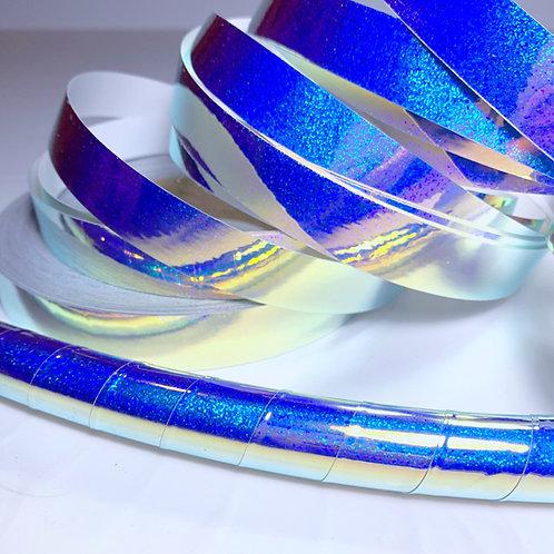 Indigo Galaxy Hologlitter Taped Hoop