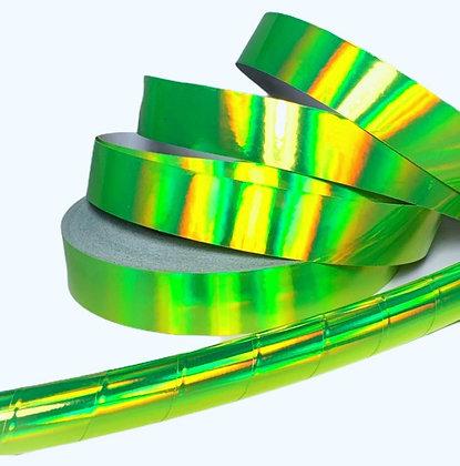 Fluorescent Yellow Rainbow Sheen Taped Hoop