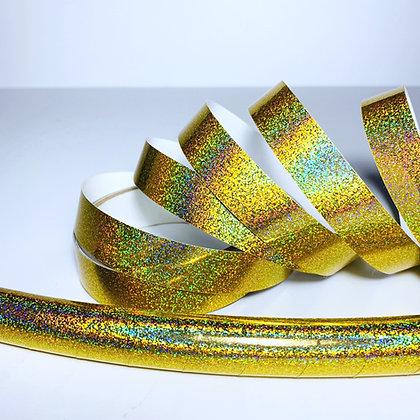 Gold Hologlitter Taped Hoop