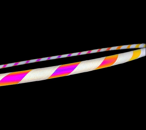 Pink Lemonade Swirl Reflective Hoop