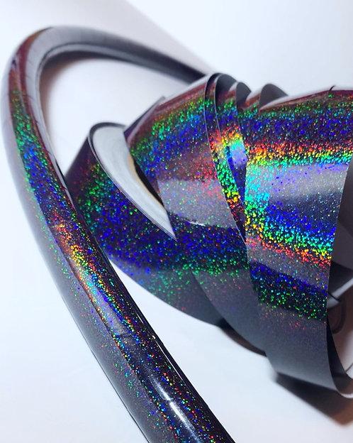 Black Hologlitter Taped Hoop