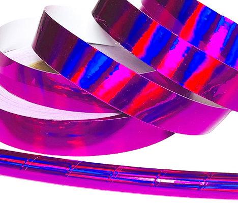 Raspberry Rainbow Sheen Taped Hoop