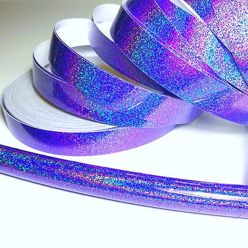 Purple Daze Hologlitter Taped Hoop