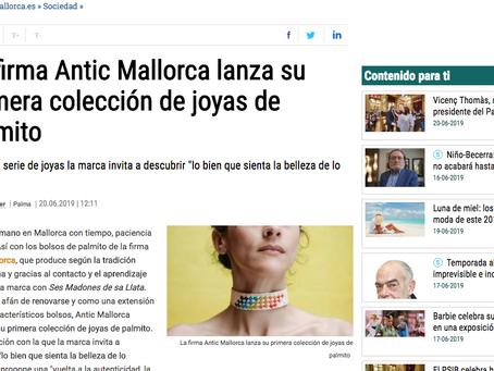 """""""LA FIRMA ANTIC MALLORCA LANZA SU PRIMERA COLECCIÓN DE JOYAS DE PALMITO"""""""