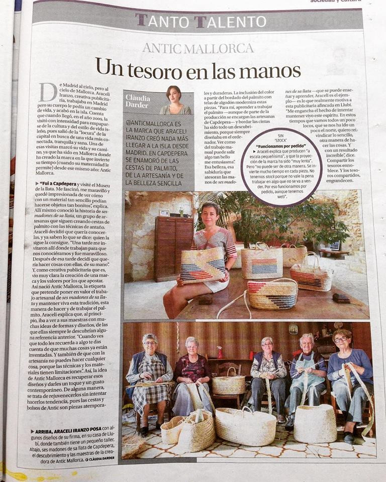 La historia, valores y actualidad de Antic Mallorca contada por Clàudia Darder para el Diario de Mallorca