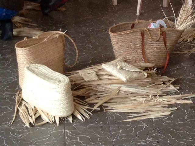 Aprendiendo la tradición mallorquina del arte del palmito