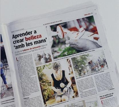 Los talleres de artesanía Amb les mans han sido un éxito en Mallorca. Participan Siurells Bet, Tinos Floral Designer, Jaume Roig Ceramics y Antic Mallorca.