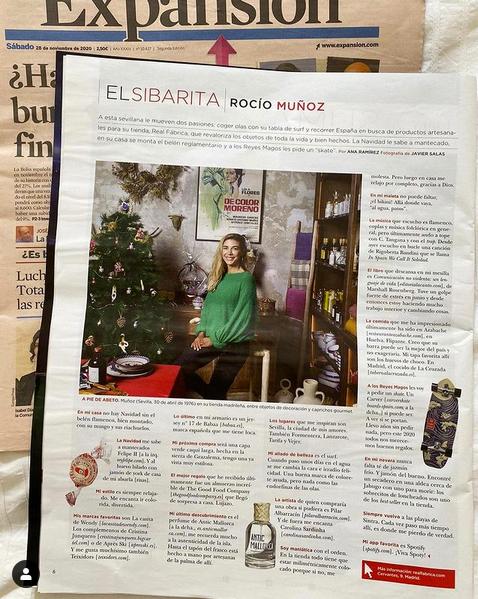Rocío Muñoz cuenta sus favortios para esta Navidad, entre ellos el perfume de Antic Mallorca. Gracias Rocío!