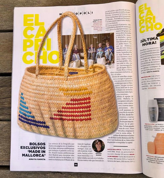 La revista Metrópoli del periódico El Mundo dedica una página a la historia de Antic Mallorca en su Especial Verano.