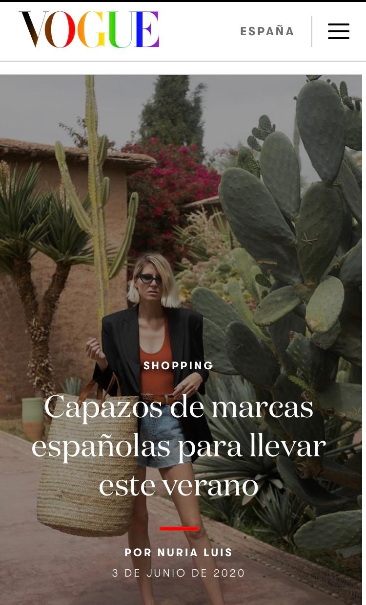 Vogue selecciona los capazos de marcas españolas para llevar este verano. El capazo de Antic Mallorca para Real Fábrica edición limitada aparece el primero del top ten.