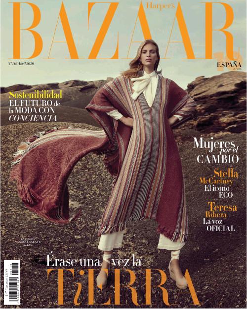 """Nuevo artículo sobre Antic Mallorca en el número """"verde"""" de Harper's Bazaar dedicado a la sostenibilidad y la moda con conciencia."""