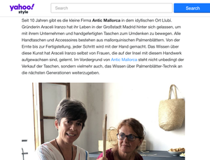 There is a beautiful story behind Antic Mallorca bags. Anne Borchardt writes about it in  Yahoo Style.