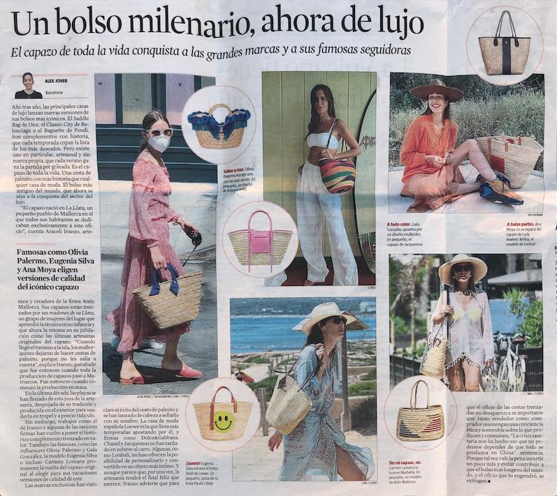 El capazo de toda la vida ahora es un bolso de lujo, con el trabajo de calidad artesanal como el que realizan en Antic Mallorca y otras grandes marcas de lujo. No te pierdas la entrevista que nos hicieron en La Vanguardia.