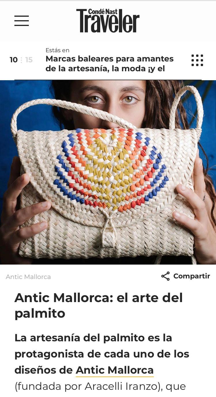 Antic Mallorca entre las marcas baleares seleccionadas para amantes de la artesanía, la moda y el mar.