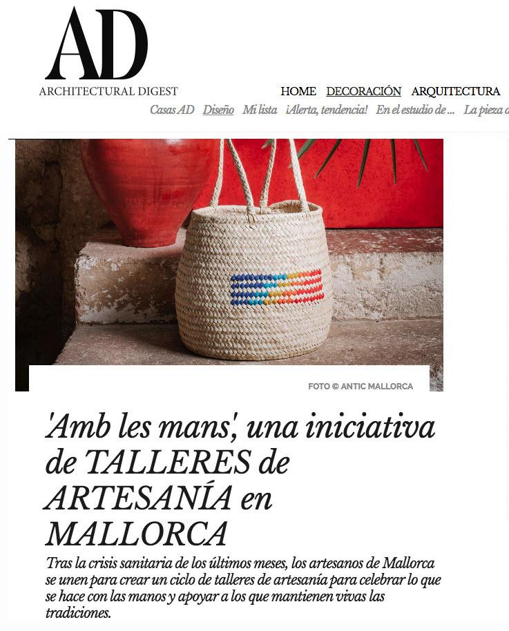 """Partcipamos en el ciclo de talleres artesanos de Mallorca """"Amb les mans"""", comisariados por Tania Baides."""