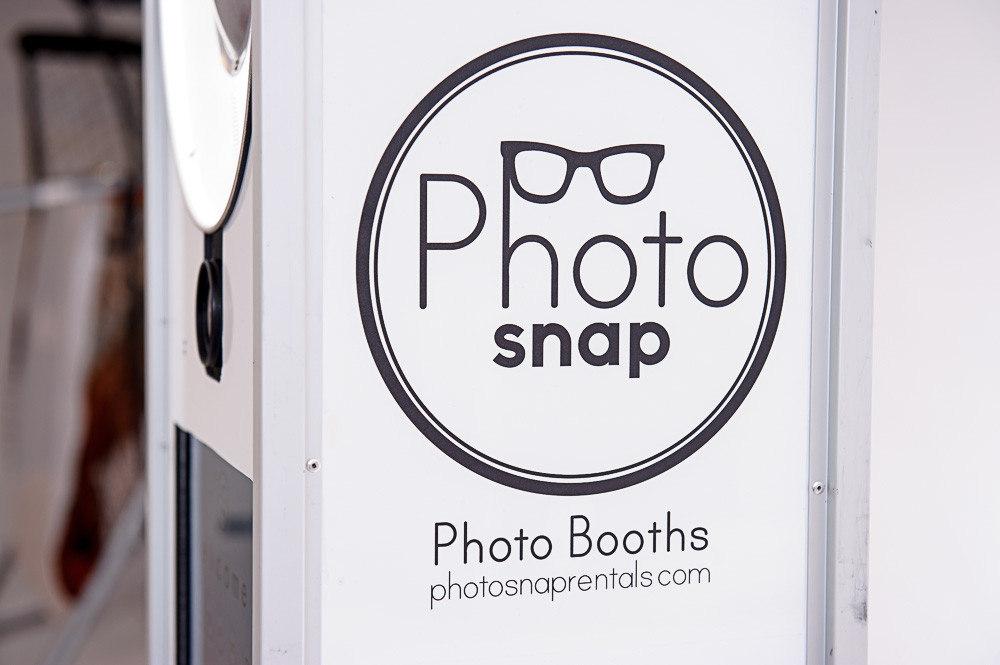 Side of PhotoSnap Photo Booth