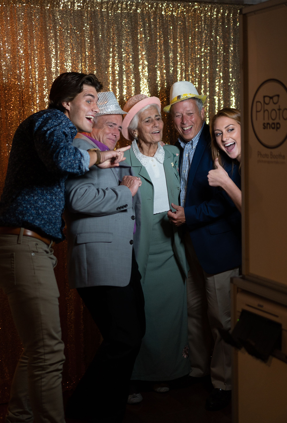 Elders and young millennial's in PhotoSnap Photo Booth