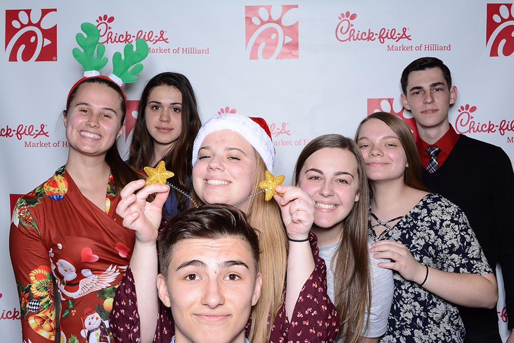 Chick-fil-a Employees enjoying PhotoSnap Photo Booths in Columbus Ohio