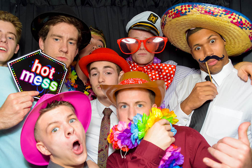 Guests at a Photo Booth Party in Columbus Ohio