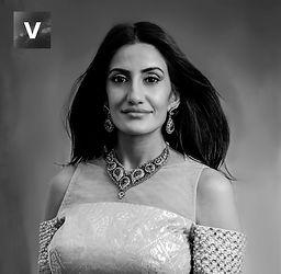 Bollywood Princess award image in black and white.